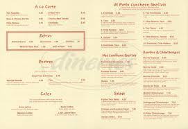 El Patio Dyersburg Tn Lunch Menu by El Patio Menu Simi Valley Dineries