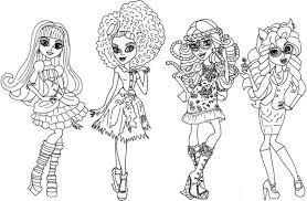 Beautiful Outfit In Monster High Stunning Characters Coloring Pages