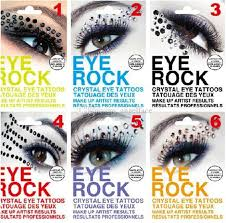 Diy Eye Rock Eyeshadow Sticker Eyeliner Tattoo Eyerock Crystal Diamond Shadow Stickers Rhinestone Art Majic Tattoos Online Temp Paper From