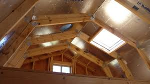 overhead loft on tall barn by tuff shed storage buildings