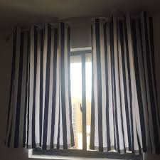 White And Gray Striped Curtains by Online Get Cheap Navy Striped Curtains Aliexpress Com Alibaba Group