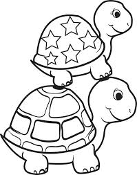 Full Image For Crayola Pictures To Coloring Pages Free Printable Turtle On Top Of A