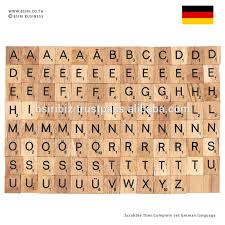 wooden letters scrabble tiles complete set german language buy