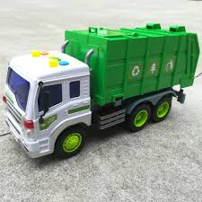 100 Garbage Truck Toy Friction Powered With Lights And Sounds For Kids
