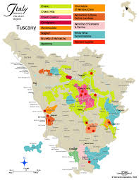 Tuscan Wine Map Santa Barbara Chinese
