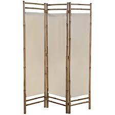 vidaxl raumteiler faltbar 3 tlg paravent trennwand spanische wand raumtrenner umkleide sichtschutz wohnzimmer bambus leinwand 120cm