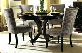 Contemporary Dining Room Sets Modern Round Glass Table Black Stunning With