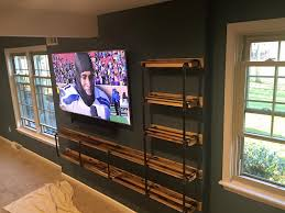 Entertainment Center Shelving Units Ideas Homemade Pallet Shelves And Wall