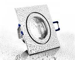 ip44 alu einbaustrahler chrom eckig für badezimmer feuchtraum