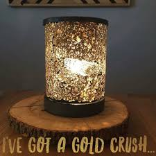 Pumpkin Scentsy Warmer 2013 by Wickless Allstars Scentsy Gold Crush Lampshade Warmer