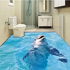 große 3d boden dekoration 3d dolphin im badezimmer fliesen