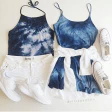 Dress Blue Tie Dye Summer Outfits Cute Tumblr Outfit Boho Indie Hippie Hipster Weheartit