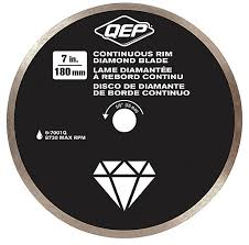 Wet Tile Saw Home Depot Canada by Qep 7 Inches Diameter Continuous Rim Diamond Tile Saw Blade 7 8 5