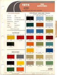 Paint Chips 1974 GMC & Chevy Truck