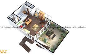 Balcony Floor 3d Plans