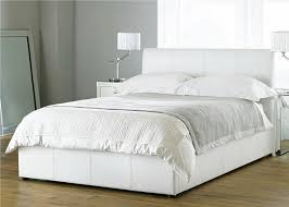 beautiful white color leather beds by time4sleep bedroom