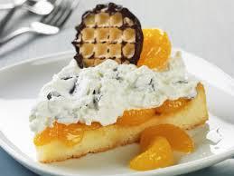 schokokuss biskuittorte mit mandarinen