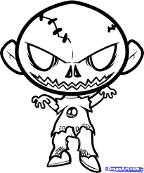 Easy Zombie Pumpkin Stencils by Easy Things To Draw Within Halloween Drawing Ideas Vladimirnews Me