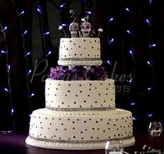 Wedding Cake Purple Dots Day Of Dead 3