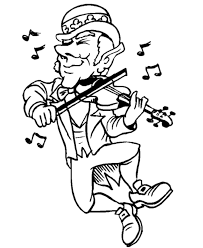 Guitar Coloring Page St Patrick Pictures Of Shamrocks
