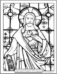 First Friday Devotion Sacred Heart Of Jesus Coloring Page