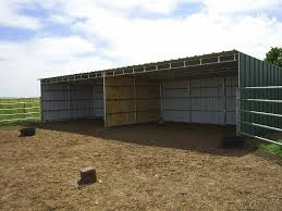 Metal Loafing Shed Kits by Verma Free Horse Loafing Shed Plans