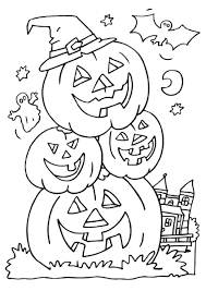 Halloween Coloring Pages Free Printable Scary Sheets For Preschoolers