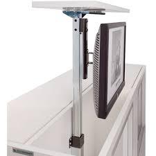 tv dans cuisine support écran plat téléscopique à encastrer dans meuble 功能电视柜