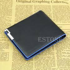 men bifold business leather wallet card holder coin pocket money