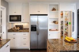 Samsung Cabinet Depth Refrigerator Dimensions by Samsung Counter Depth Refrigerator Kitchen Traditional With Food