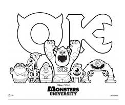 Free Monsters University Printable Coloring Pages And Activity Sheets