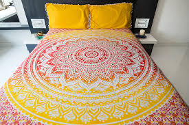 Trippy Bed Sets by Amazon Com Ombre Mandala Bedspread With Pillow Covers Indian