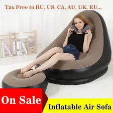 ᑎ aufblasbare möbel stuhl sofa liege mit ottomane fuß