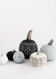Where Did Carving Pumpkins Originated by Diy Mudcloth Pumpkins Popsugar Home