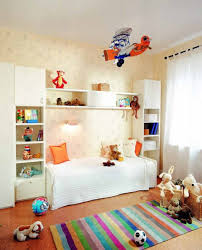 Gorgeous Colorful Kids Room Decor Design Ideas With Minimalist Wall Sticker Boys Bedroom Interior Decoration Bed In The