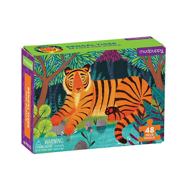 "Mudpuppy Mini Puzzle - Bengal Tiger, 48pcs, 8"" x 5.75"""