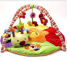 Baby Play Mat Colourful Game Blanket with Fitness Rack Crawling