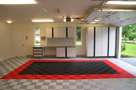 three designs for garage floor tiles that are functional