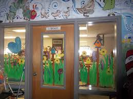 Spring How To Decorate Clroom Windows Window Painting With Students Library Ideas Pinterest Rhcom Home