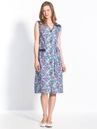 femme de chambre sans culotte daxon tablier sans manches coton uni imprimé zippé à carreaux