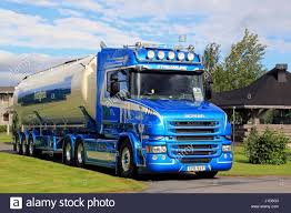 ALAHARMA, FINLAND - AUGUST 12, 2016: Blue Scania T580 Semi Tank ... Ab Big Rig Weekend 2012 Protrucker Magazine Canadas Trucking Truckin Alberta Hwy 2 Rest Area Pt 3 Ryker Oilfield Hauling 12 9 Back To Mcl Group 6 2011 Oct 14 Ponoka Swift Current Sk Thank You C K 2010