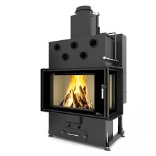 LOUIS CORNER RIGHT AIR 10kW Twin Glass Air Fireplaces Pellets