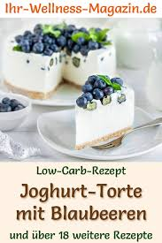 low carb joghurttorte mit blaubeeren ohne backen rezept