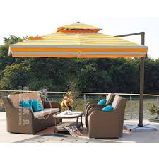 Double Top Striped Patio Umbrella For Garden Rome Strong Aluminum Alloy View Larger Image