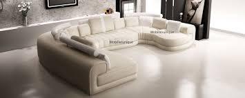 grand canapé angle pas cher canapé d angle panoramique design en cuir italien