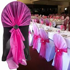 !!!50Pcs/lot Stretch Wedding Chair Cover Band With Buckle Slider Sashes Bow  Decorations