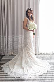 Wedding Dresses s Gown with Sweeping Lace Train Inside Weddings