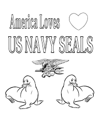 America Loves Navy SEALs Coloring Page