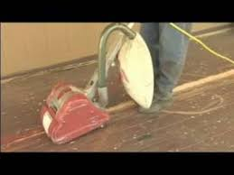 deck repair how to use a drum sander youtube