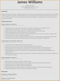 Resume Examples For Medical Assistant Best Of Secretary 2016